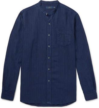 Polo Ralph Lauren Grandad-Collar Striped Linen Shirt