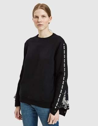 MSGM Printed Crepe de Chine Sweatshirt