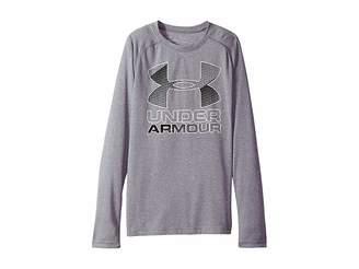 Under Armour Kids Hybrid Big Logo Long Sleeve Tee (Big Kids)