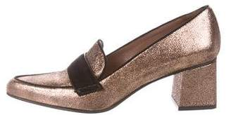 Tabitha Simmons Leather Loafer Pumps