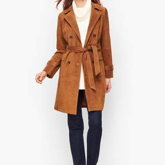 Talbots Luxe Suede Trench Coat