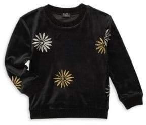 Splendid Girl'sSplendid x Margherita Missoni Foiled Daisy-Print Velvet Sweater