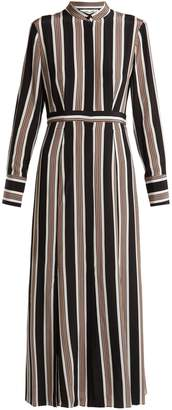 Diane von Furstenberg Harley striped silk crepe de Chine shirtdress