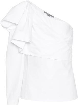 Stella McCartney Giada one-shoulder cotton top
