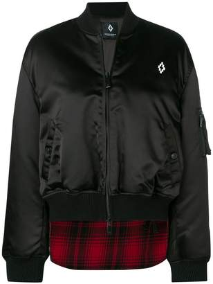 Marcelo Burlon County of Milan checked rear bomber jacket