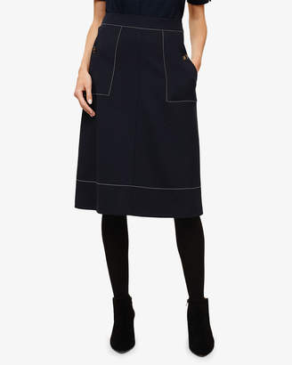 4decd8fefeff Phase Eight Castielle A-line Stitch Skirt