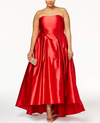 Betsy & Adam Plus Size High-Low Gown $299 thestylecure.com