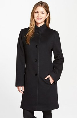 Women's Fleurette Piped Wool & Cashmere Stand Collar Coat $1,350 thestylecure.com