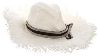 Brunello Cucinelli Monili-Trimmed Metallic Hat w/ Tags