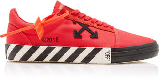 Off-White Vulcanised Striped Low-Top Canvas Sneakers