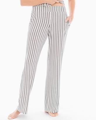 Cool Nights Pajama Pants Heritage Stripe Ivory RG