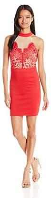 Trixxi Women's Slim Scuba Lace Dres