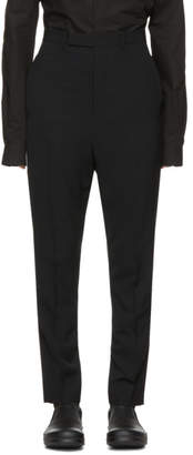 Rick Owens Black Long Astaires Trousers