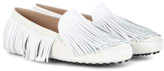 Tod's Gommino fringe leather loafers