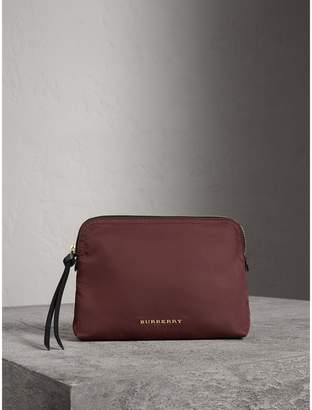 Burberry Large Zip-top Technical Nylon Pouch
