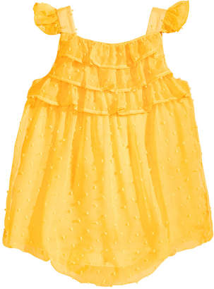 First Impressions Ruffled Bubble Romper, Baby Girls, Created for Macy's