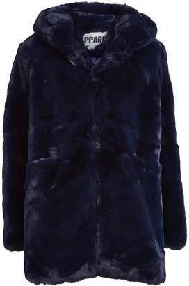 Apparis Marie Hooded Faux Fur Coat