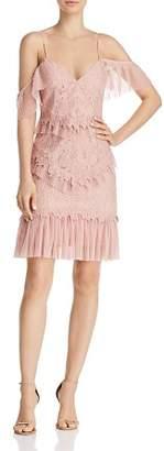 Bardot Valorie Cold-Shoulder Lace & Tulle Dress