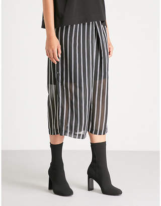 Izzue Striped chiffon trousers