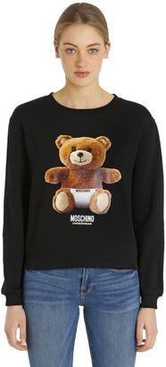 Teddy Bear Print Cotton Sweatshirt $163 thestylecure.com