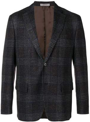 Corneliani single-breasted check blazer