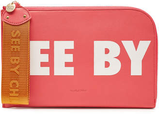 See by Chloe Printed Leather Pouch