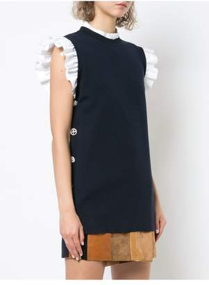 ADAM by Adam Lippes Merino Wool Sleeveless Tunic With Jewel Buttons