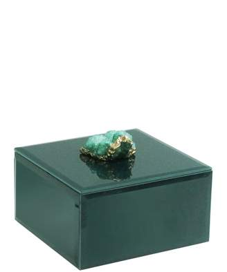 Jay Import Green/Gold Agate Box