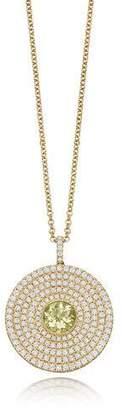 Kiki McDonough Fantasy Diamond & Lemon Quartz Disc Necklace