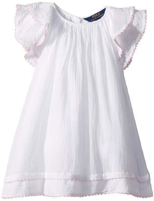 Polo Ralph Lauren Cotton Flutter-Sleeve Dress Girl's Dress