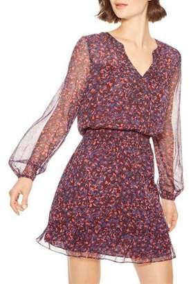 Parker Atticus Printed Button-Front Short Dress