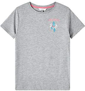John Lewis & Partners Girls' Paradise Print T-Shirt, Grey