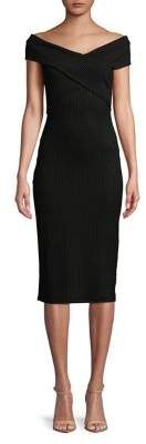 MICHAEL Michael Kors Striped Bodycon Dress