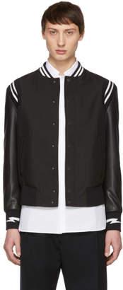 Neil Barrett Black Sports Bomber Jacket