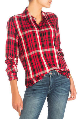 GUESS River Pocket Plaid Button-Down Shirt