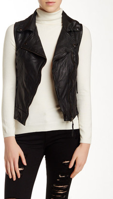 Muubaa Cassidy Leather Gilet $375 thestylecure.com