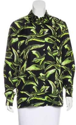 Emilio Pucci Printed Silk Button-Up