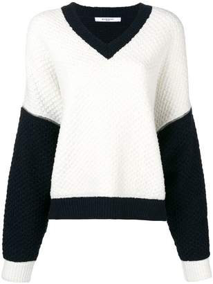 Givenchy contrast long-sleeve sweater
