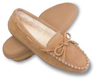 Minnetonka Pile Lined Hardsole Women's Suede Slippers with Ti