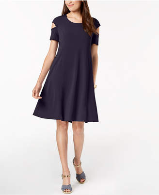 NY Collection Petite Cutout-Sleeve Dress