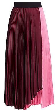A.L.C. Women's Grainger Colorblock Pleated Midi Skirt - Size 0