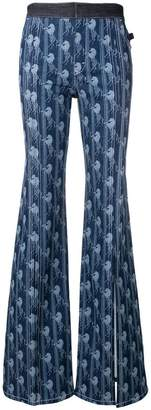 Chloé horse print flared trousers