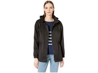 Eileen Fisher Stand Collar Hidden Hood Jacket
