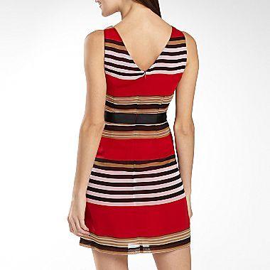 XOXO Drape-neck Chiffon Dress