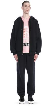 Alexander Wang Long Sleeve Zippered Hooded Sweatshirt