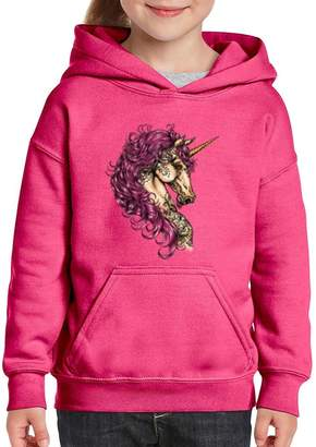 Xekia Unicorn Magical Fantasy Horse Hoodie For Girls - Boys Youth Kids