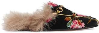 Gucci Princetown rose velvet slipper