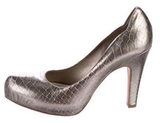 Nicole Miller Embossed Leather Pumps