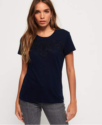 Superdry Lex Panelled Lace Top