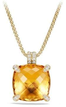 David Yurman Châtelaine Pendant With Citrine And Diamonds In 18K